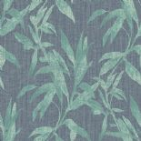 Passenger Wallpaper TP21234 Leaves Green/Blue By DecoPrint For Galerie